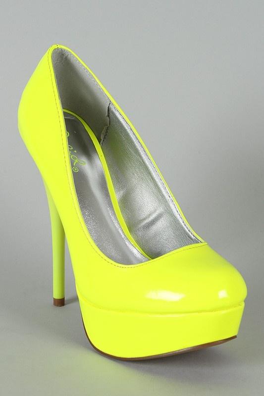 Gele neon pump