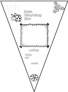 wimpelkette steckbriefe zaubereinmaleins designblog backtoschool geburtstagskalender. Black Bedroom Furniture Sets. Home Design Ideas