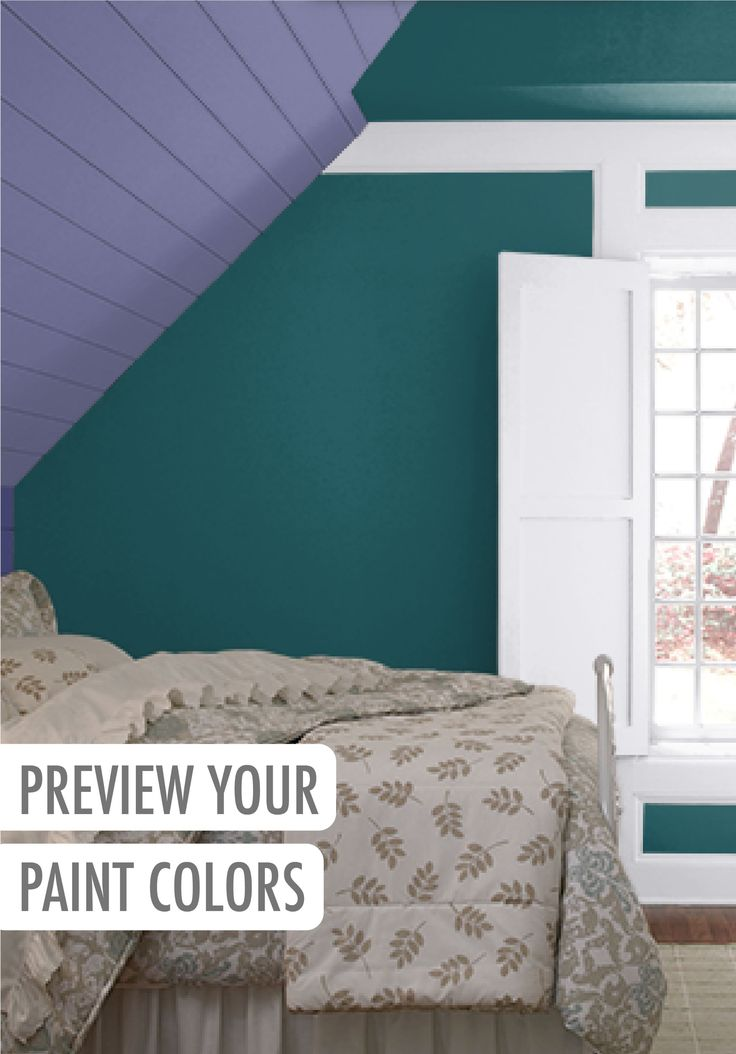 Preview this Purple Prince, Tsunami, Kimono Violet, and Lilac Mist color palette in this room by clicking through to the ColorSmart BEHR tool to create your own project. This feature is perfect for new homeowners and color enthusiasts alike.