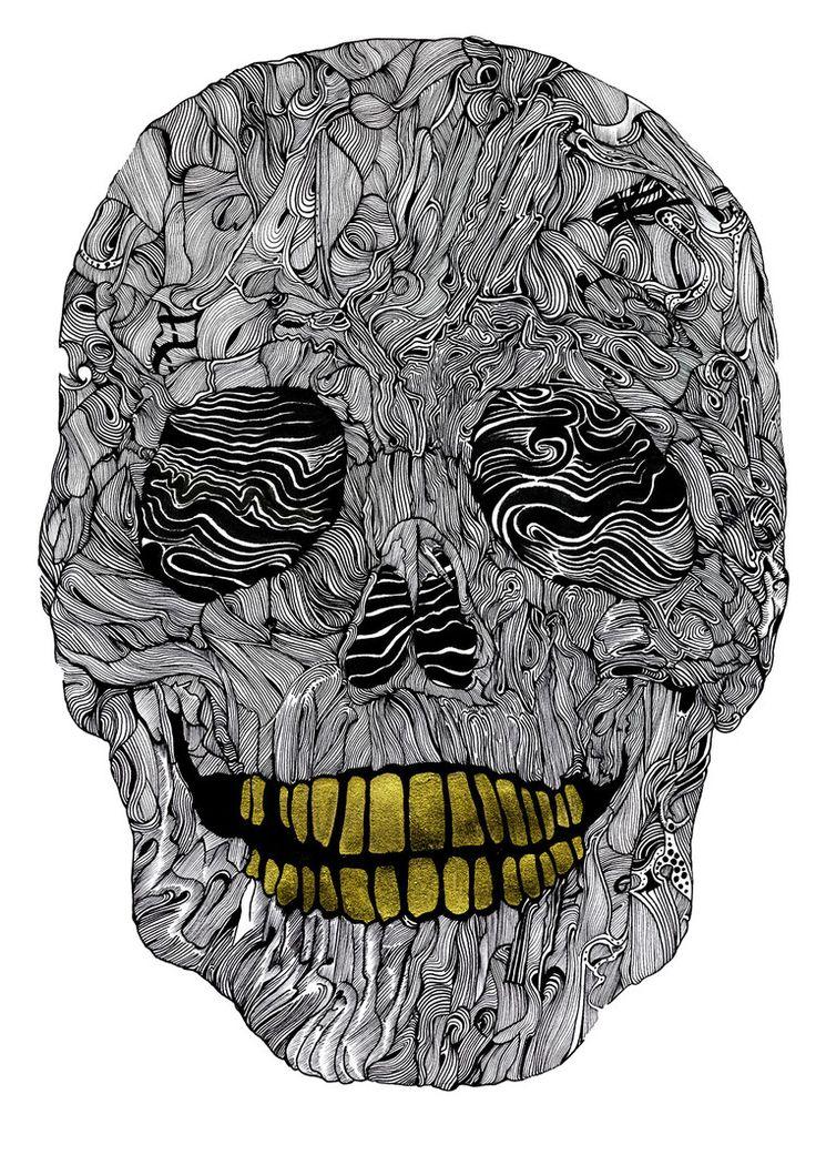 Skull No.5 Goldie