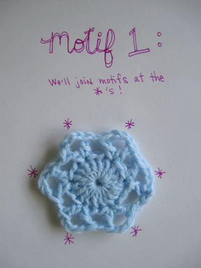 Join-As-You-Go Method for Crochet Motifs tutorial: Ideas, Crocheting, Craft, Pattern, Joining Motifs, Crochet Stitches, Crochet Patterns, Join As You Go Method, Crochet Tips