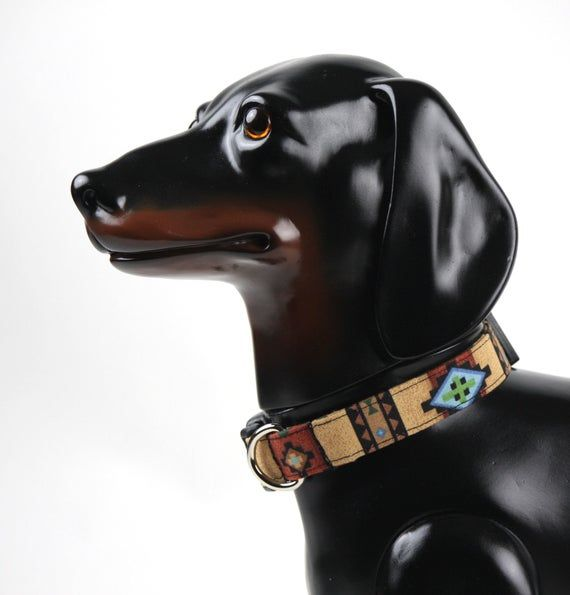 Southwestern Dog Collar Unique Dog Collar Autumn Dog Accessories