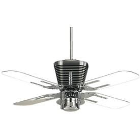 Quorum Lighting Retro Ceiling Fan - Love the Clear Blades!
