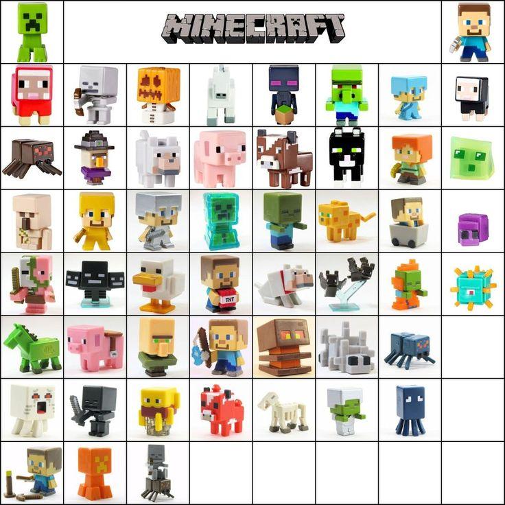 Minecraft Mini Figure Series 1 Grass & 2 Stone & 3 Netherrack Loose Choose New #Mattel #BirthdayChild