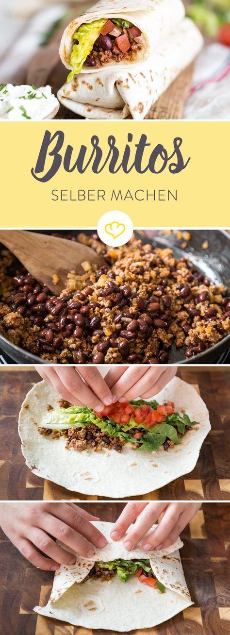 Burritos selber machen – so geht's beim Füllen, Falzen und Rollen   – Mexican Food