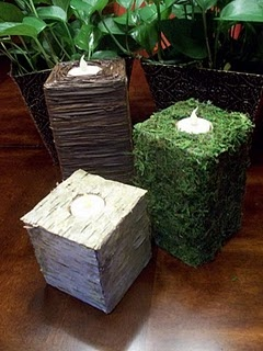 Natural Elements DIY candle holder tutorial   -- for Michael, I think he would love these