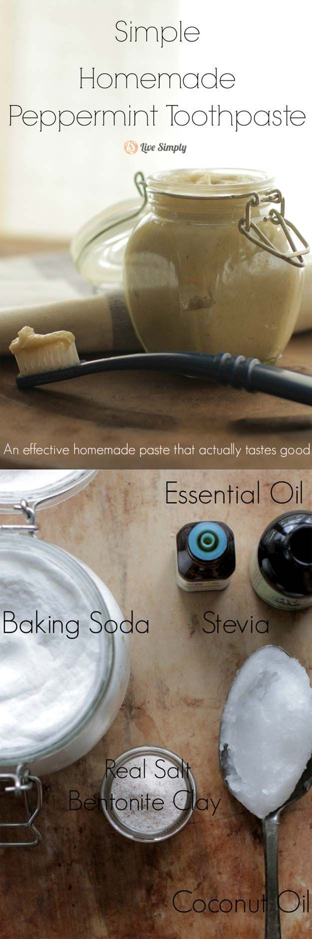 Teeth Whitening Tricks to Try at Home - Simple Homemade Peppermint Toothpaste - Awesome DIY Tips for Whitening Your Teeth At Home Using Baking Soda, Activated Charcoal, or Hydrogen Peroxide. Homemade Natural Remedies for Overnight Whitening. Some of These Use Brushes, and Some Don't, but All Are Great For Dental Health. These Beauty Tips Will Make You Say It Works! - https://thegoddess.com/teeth-whitening-tricks #HomeRemediesforTeethWhitening #whiterteeth
