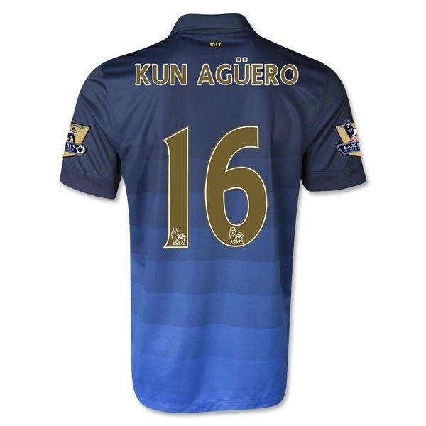 Camiseta Manchester City Alterna 14/15 KUN AGUERO#16 *Envío Gratis!  * Facebook: MundoFutbol
