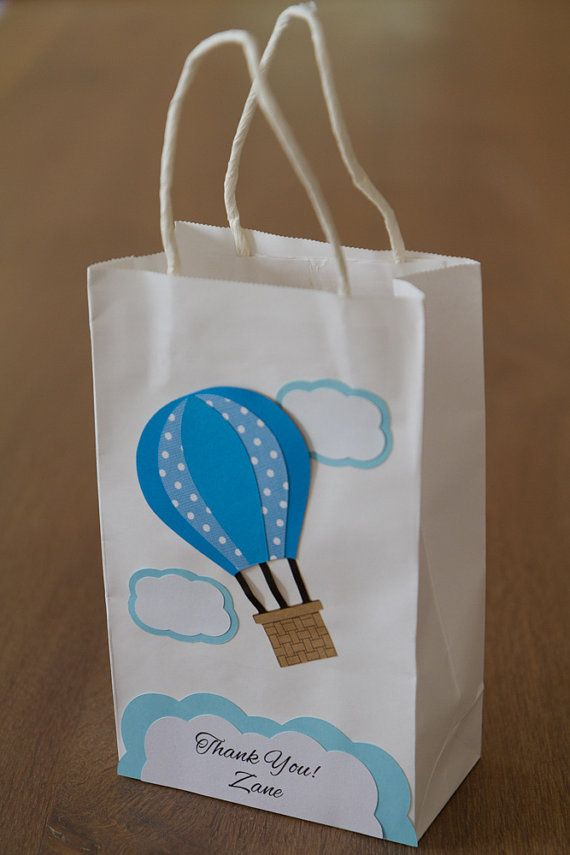 NEW Hot air balloon Favor bags Set of 12 Personalized