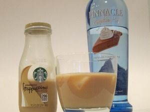 Vanilla Frappuccino with #Pinnacle Pumpkin Pie vodka