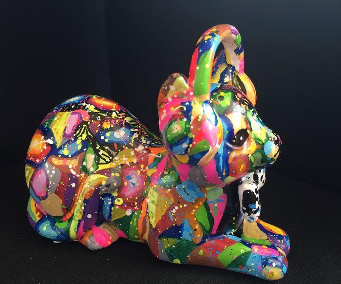 POP CAT PARIZ ONE 2015 Oleo y Espray  18 x 13 cm