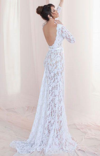 Julie Vino свадебные платья с открытой спиной | смотреть фото цены купить