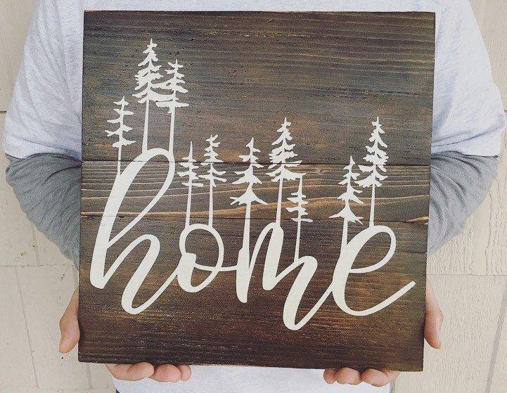 Reclaimed wood wall art minimalist art custom signs for Minimalist gifts for housewarming