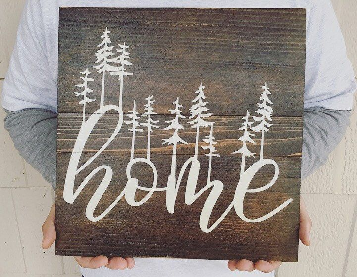 Reclaimed Wood Wall Art + Minimalist Art + Custom Signs + Gallery Wall Decor + Housewarming Gift + Home Wood Sign + Wedding Gift by TheCedarTribe on Etsy