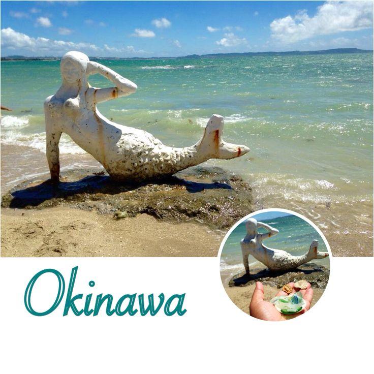 White Mermaid at the Beach of the old Mermaid Restaurant in Highway 329 Okinawa.