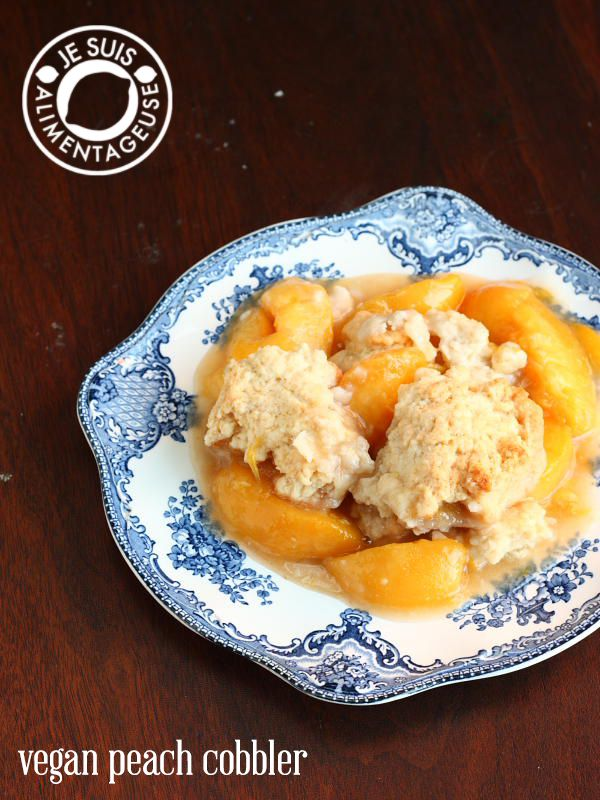 Vegan Peach Cobbler