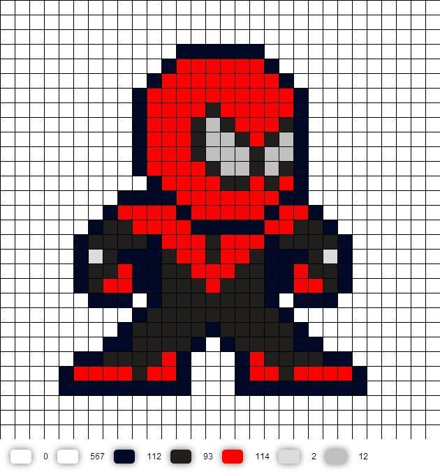 картинки как нарисовать человека паука по клеточкам вечеринка совсем