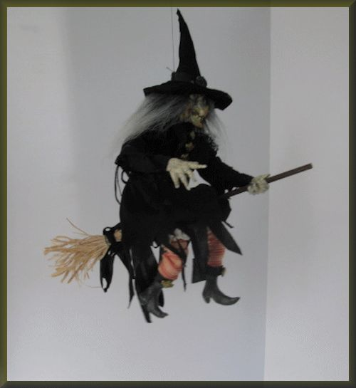 Flying Witch Halloween Prop