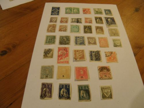 37 stamps of Portugal 1895 to 1941 продано sold