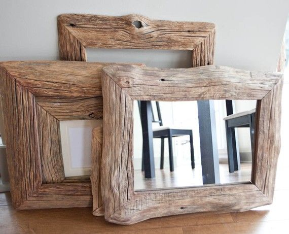 mirror in reclaimed farm wood frame 10x14 cabin barn. Black Bedroom Furniture Sets. Home Design Ideas
