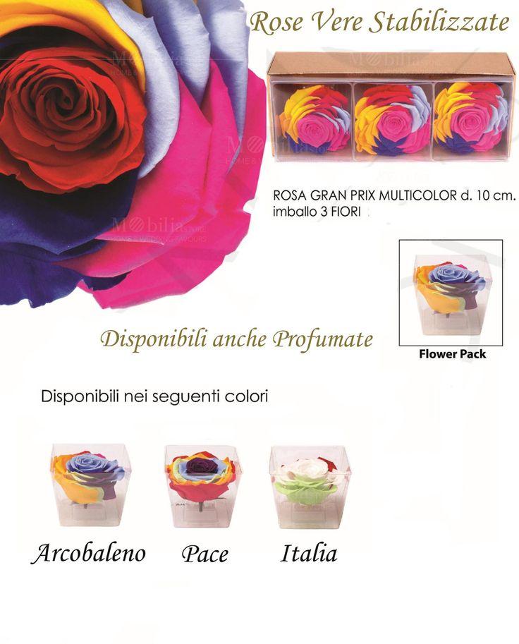 Rose Stabilizzate Multicolor, disponibili anche profumate, potrete scegliere tra ben 3 diversi colori: pace, italia o arcobaleno. Scopri le promo su Mobilia Store