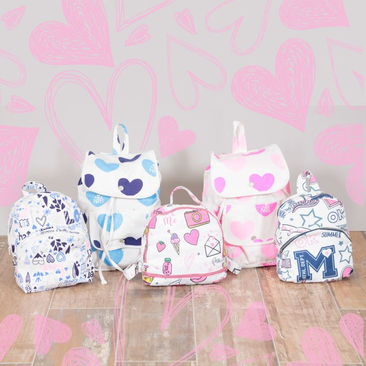 NTB Beauty and Fun! Morrales muchos morrales! #nautyblue #ntbbeautyandfun #pink #blue #backpacks #cute