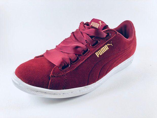 Ribbon Puma Tibetan Vikky Chaussure Femme Red M80wnn JcT3K1lF
