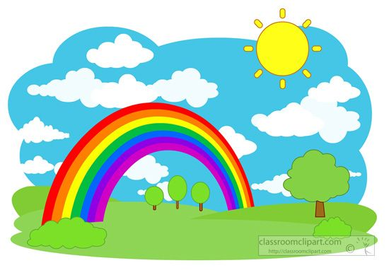 Beautiful Garden With Rainbow Background Clipart Images Gallery 45 Best Curcubeu Rainbows Backdrops And Rh Com
