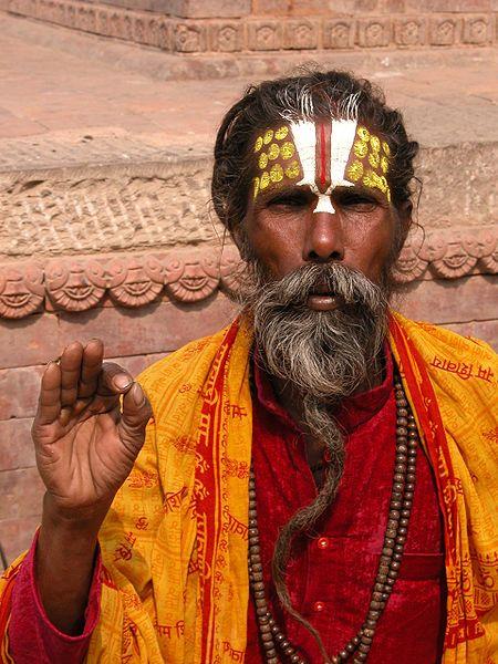 A sadhu in Kathmandu, Nepal.