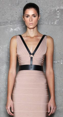 leather harness dress