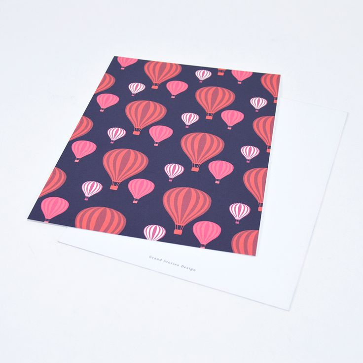 Air balloons #grandstoriesdesign #illustration #stationery #paperlove #webshop #newwebshop #papershop #hotairballoons #card #print #paperdesign #pattern