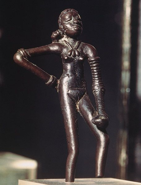 "Harappan ""Figure of a young dancer, from Mohenjo-Daro, Indus Valley, Pakistan"