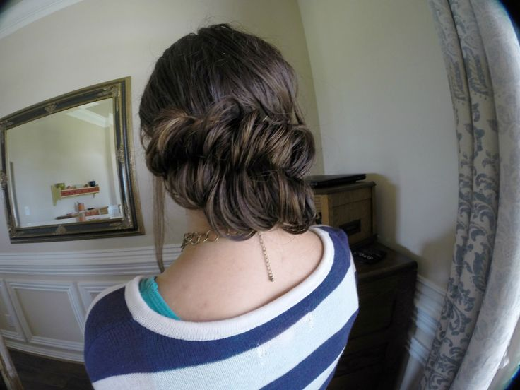 Beautiful Elegant Easy Up-do Hairstyle For Wet or Dry Hair