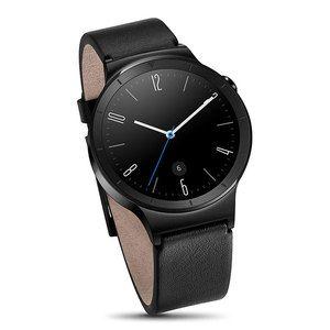Montre & Bracelets connectés Huawei Watch Active Noir/Cuir Montre connectée certifiée IP67 avec Wi-Fi et Bluetooth sous Android Wear compatible iOS / Cadran acier et bracelet cuir