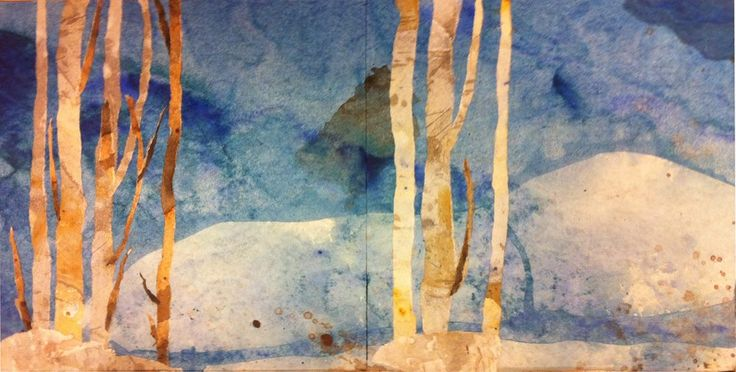 Blue night, 2 x 20x20cm Made by: Tove S. Holmøy