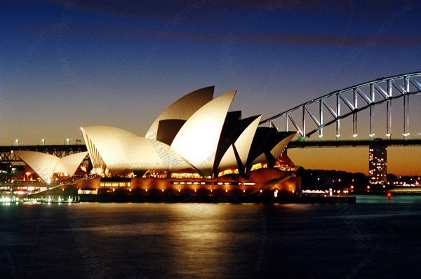 """Photo enlargement of the Sydney Opera House at Night, measuring 8"""" x 6"""" in a soft frame. You can buy this photo enlargement for $15.95 delivered. www.theshortcollection.com.au/page/photo-enlargement-small"""
