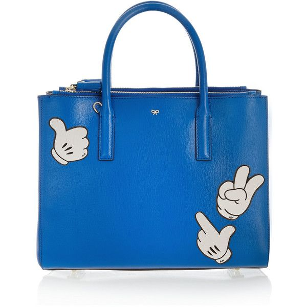 Anya Hindmarch Thumbs Up textured-leather adhesive sticker