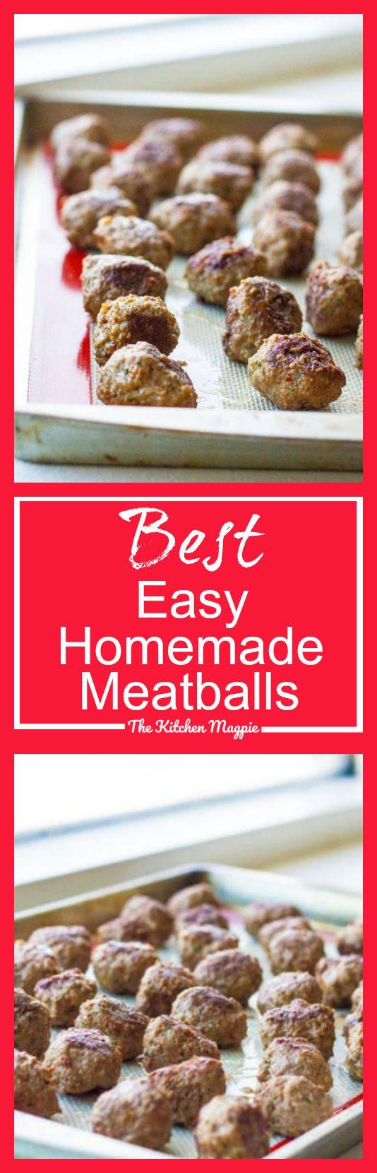 Best Easy Homemade Meatballs