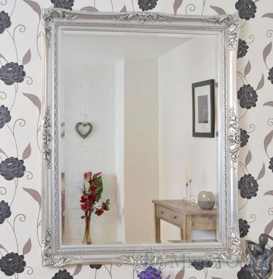 Large classic antique-style wall mirror is a fantastic statement piece for any room from the dining room to the bedroom. This mirror has a bevelled glass size of 4ft x 3ft 122cm x 91cm and has an overall size of 4ft 8 x 3ft 8 142cm x 112cm.