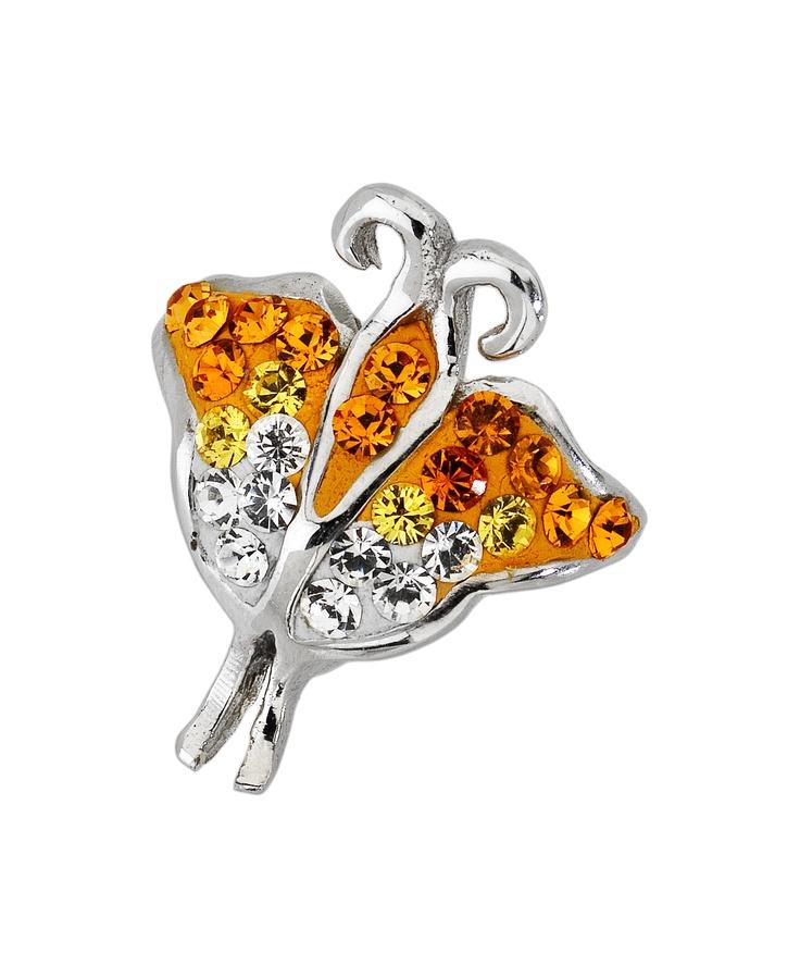 Amore & Baci tangerine tango butterfly Svarovsky bead