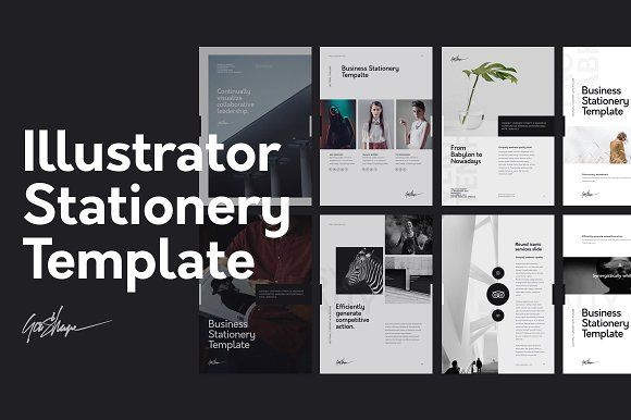 Illustrator Stationery Template by GoaShape on @creativemarket