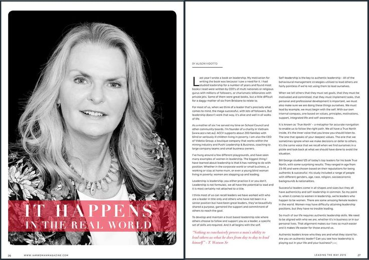 Alison has been featured in the August issue of I AM WOMAN Magazine. Read her full article here bit.ly/1KN8WSO #Leadership