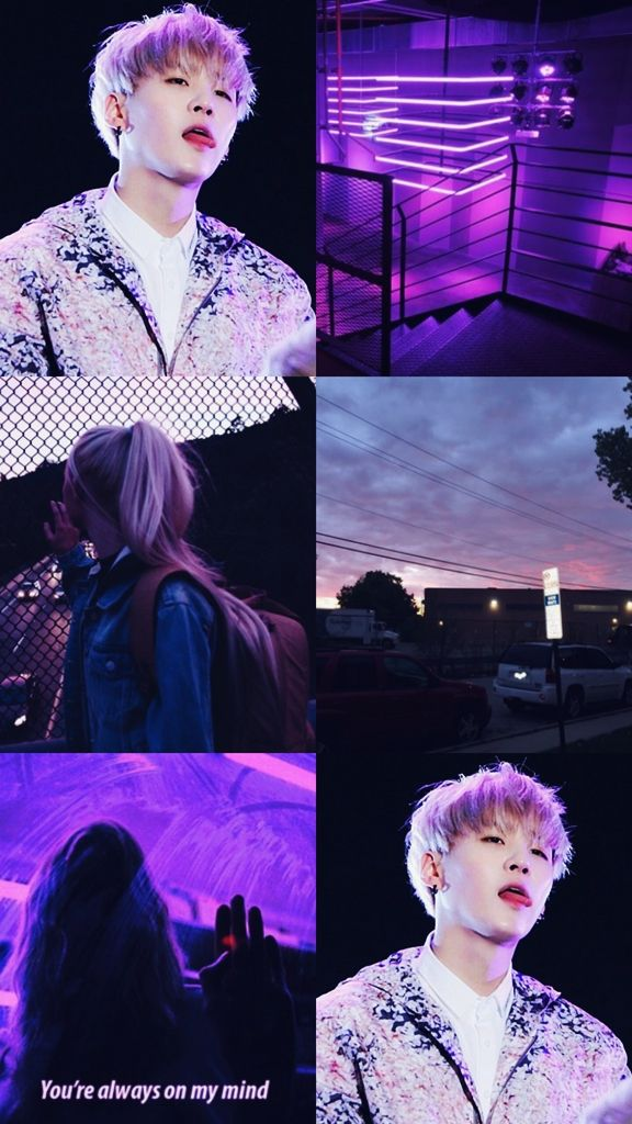 Kpop Wallpaper Asthetic Purple Suga BTS ☽ Kpop