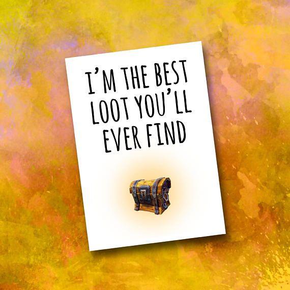 Fortnite Valentine S Day Card Funny Boyfriend Loot Crate Gift