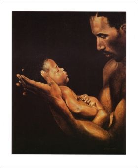 Father's Love     by Elliott Miller - Avisca.com: the discount online African American Art Gallery