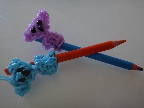 tuto koala élastique rainbow loom pour crayon - YouTube
