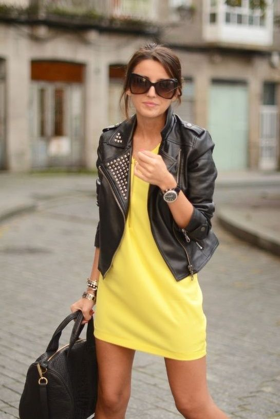chaqueta, cuero, leather, jacket, outfit, moda, mujer