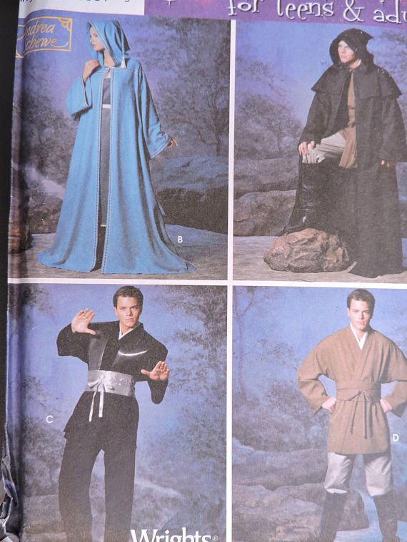 Fantasy Hooded Robe Tunic Belt Star Wars Stage Play Cape