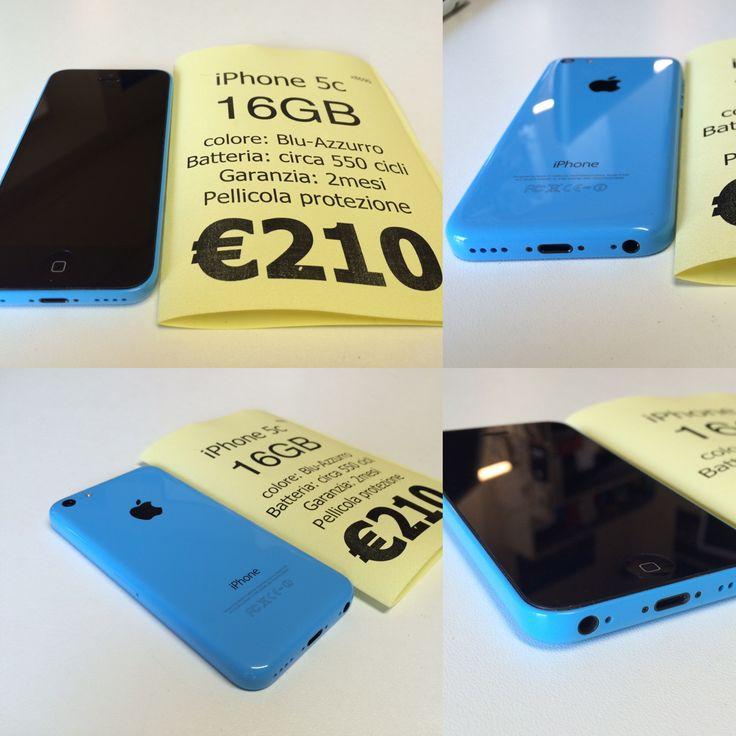 €210 Apple iPhone 5c 16GB Grado A, blu-azzurro, batteria circa 550 cicli, con pellicola in vetro in omaggio. Garanzia 2 mesi, fatturabile disponibili anche altri colori e modelli     Per tutti telefoni di questa offerta abbiamo incluso  cavo+caricabatteria (€20), pellicola in vetro temperato(€7), cover di protezione base (€7), cavo aggiuntivo sync (€6) e anche eventuale trasferimento dati vecchio telefono (€40+iva)!      Per prenotare inviarenome cognome + contatto telefonico: A)…