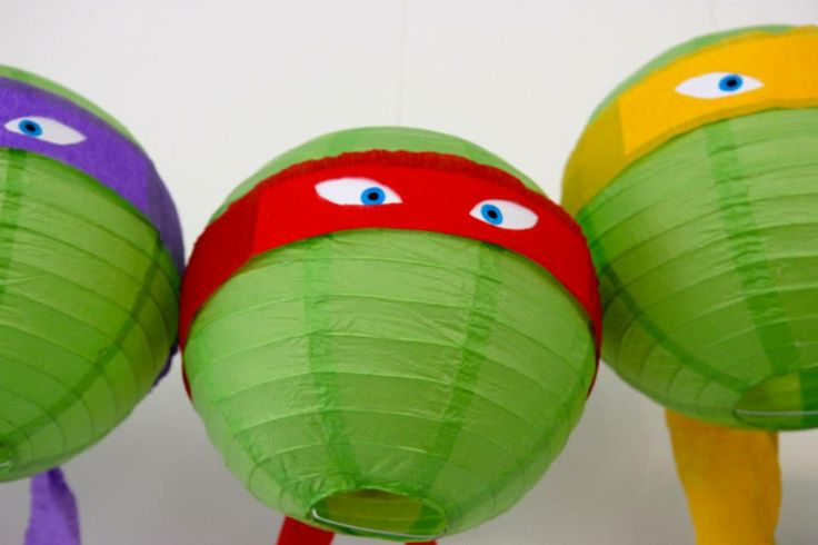 how to make ninja turtle paper lanterns